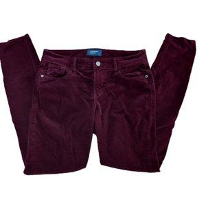 2/$20 - Old Navy Mid-Rise Rockstar Burgundy Cords